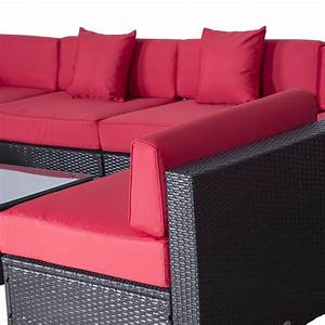 Lounge Sofa Outdoor : outsunny modern 9 piece outdoor patio rattan wicker sofa sectional chaise lounge furniture set ~ Markanthonyermac.com Haus und Dekorationen