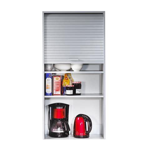 el 233 ment de rangement pour cuisine avec rideau coulissant h123 6cm cook aluminium 60cm