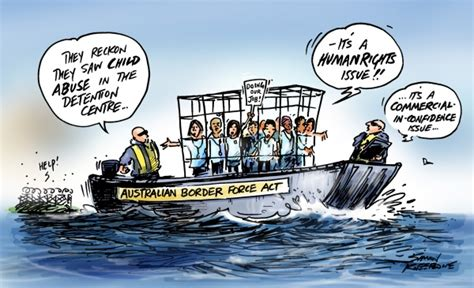Cartoon Refugee Boat by Business As Usual Simon Kneebone Cartoonist And