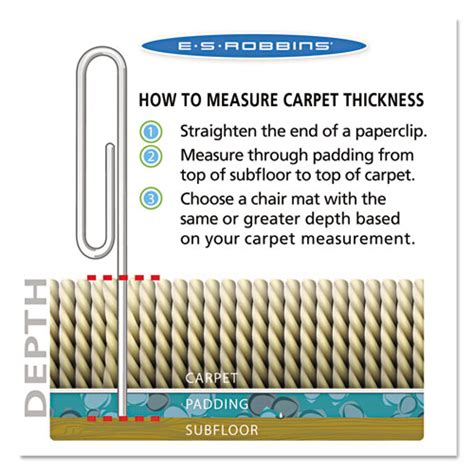 es robbins 174 everlife chair mats for medium pile carpet