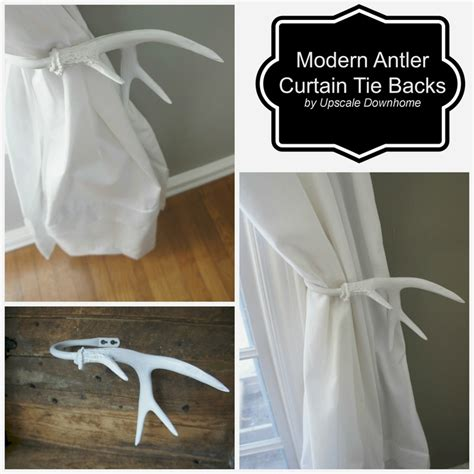 a modern take on the antler tie back crisp white makes them fresh window treatment wednesday