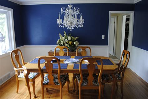 Privileges Of Dining Room With Blue Walls