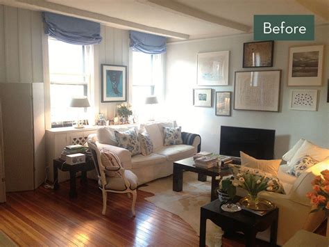 before and after a manhattan living room makeover curbly