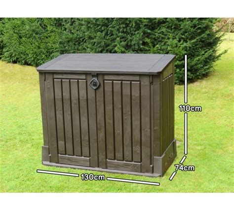 buy keter woodland midi store it out shed at argos co uk