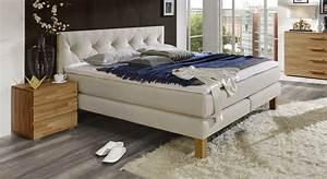 Boxspring Bett Landhausstil : elegantes luxus boxspringbett mit leinen stoff cantabria ~ Markanthonyermac.com Haus und Dekorationen