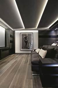 Decken Dekoration Wohnzimmer : teto em gesso e ilumina o indireta com cord o de led d o o tremendo charme a movie room ~ Markanthonyermac.com Haus und Dekorationen