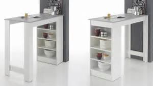 Bartisch Mit Regal : bartisch moyito tisch in wei und betonoptik inkl regal 115x50 cm ~ Markanthonyermac.com Haus und Dekorationen