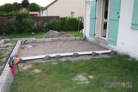 les travaux de la terrasse se poursuivent maison et domotique