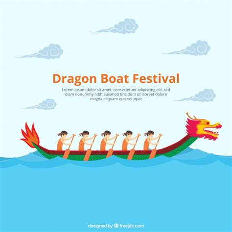 Dragon Boat Festival Vector by Dragon Boat Festival Background Vector Free Download