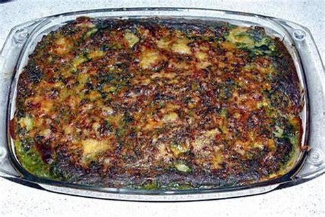 recette de gratin de pdt epinard viande hach 233 e et b 233 chamel