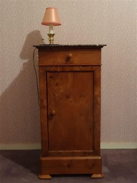 table de chevet bois ancienne clasf
