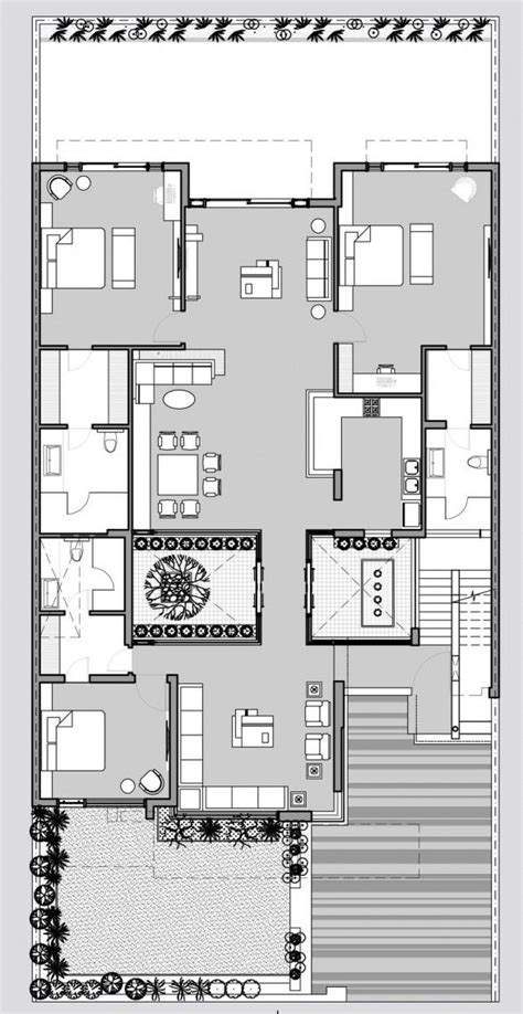 contemporary courtyard house plan 18 best images about courtyard house plans on