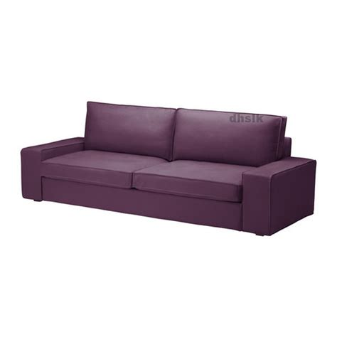 ikea kivik sofa bed slipcover sofabed cover dansbo lilac purple