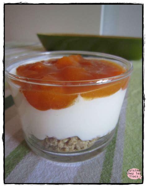 verrine fromage blanc compot 233 e d abricots muesli