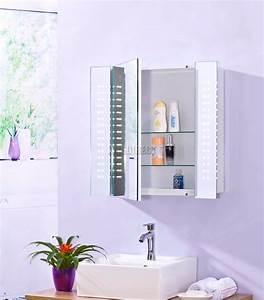 Badezimmer Spiegel Schrank : foxhunter led beleuchtet spiegel badezimmer schrank stahl schrank sensor ebay ~ Markanthonyermac.com Haus und Dekorationen