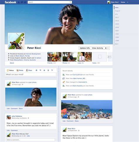 Facebook Profiles Archives  Peter J Ricci