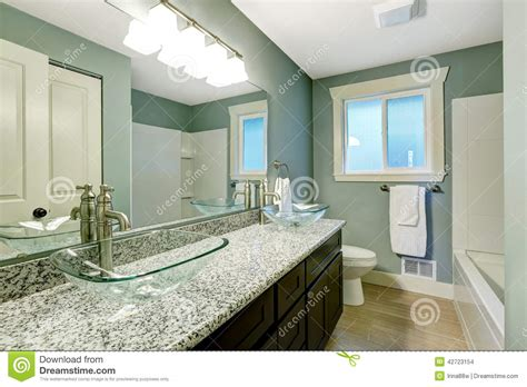 modern bathroom interior in soft aqua color stock photo image 42723154