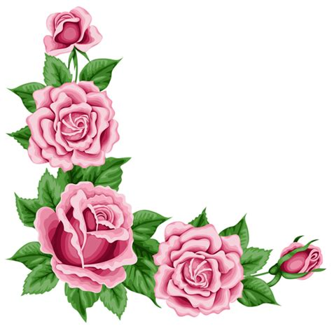 roses corner decoration png clipart picture gallery