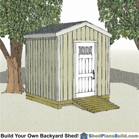 8x8 shed plans for building a backyard storage shed