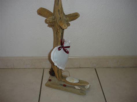 porte papier wc original en bois flott 233 et coeur lavande accessoires de maison par bene boisflotte
