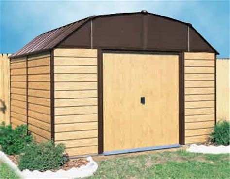 woodhaven 10 w x 9 d arrow backyard metal storage shed kit