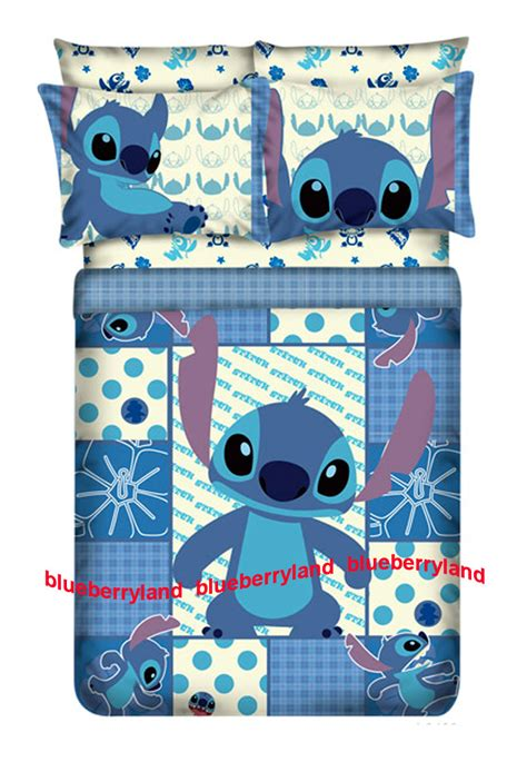 disney stitch size bedding duvet cover fitted sheet 4pc bedding sets