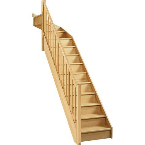 escalier soft quart tournant haut droit h274 re wood structure marche bois leroy merlin