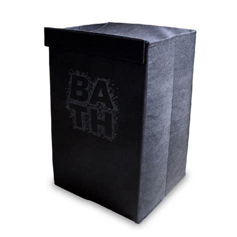 panier 224 linge pliable bath noir