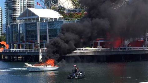Vancouver Fire Boat 1 by Crews Responding To Boat Fire In False Creek Ctv