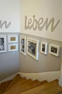 Wandgestaltung Treppenhaus Einfamilienhaus : 1000 bilder zu gestaltung auf pinterest fotow nde bildw nde und galerien ~ Markanthonyermac.com Haus und Dekorationen