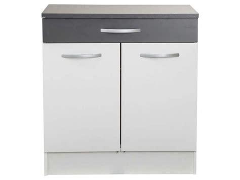 meuble bas 80 cm 2 portes 1 tiroir woody gris conforama pickture