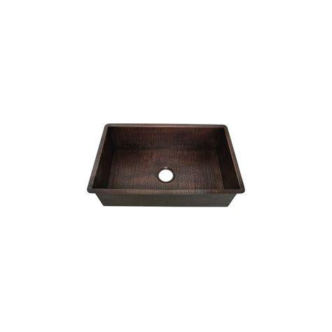 foret undermount weathered copper 30 5x19x9 in 0 single basin kitchen sink kkitwc