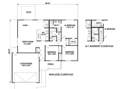 style house plan 3 beds 2 baths 2630 sq ft plan ranch style house plan 3 beds 2 baths 1230 sq ft plan