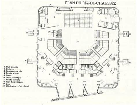 plan du rez de chauss 233 e salle de spectacle le z 233 nith chaix et morel la villette xixe