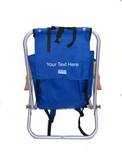 imprinted personalized aluminum backpack chair by