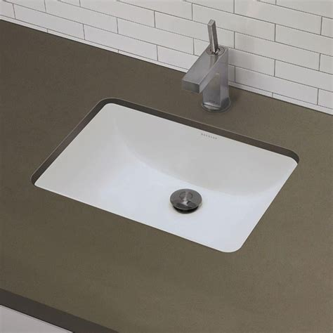Small Rectangular Undermount Bathroom Sink by Decolav Classic 21 X 15 Rectangular Undermount Bathroom