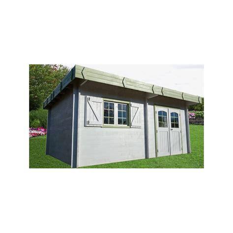 abri de jardin en bois et toit plat livr 201 mont 201