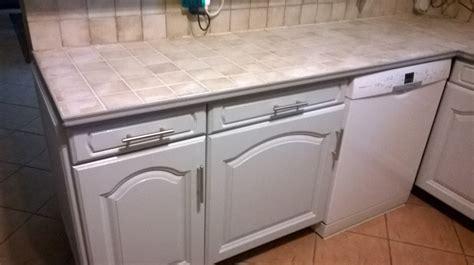 peindre le carrelage cuisine mur et plan de travail renover ma maison