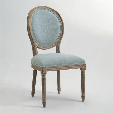 blue linen back dining chairs set of 2