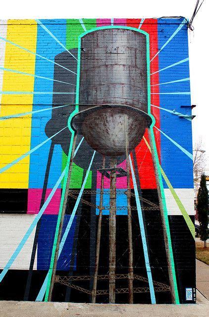 water tower mural in ellum one of my favorites