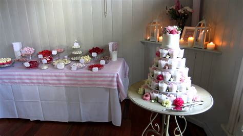 Final Wedding Dessert Table Set Up For Susan & Chris Youtube