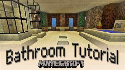 minecraft how to make a bathroom tutorial