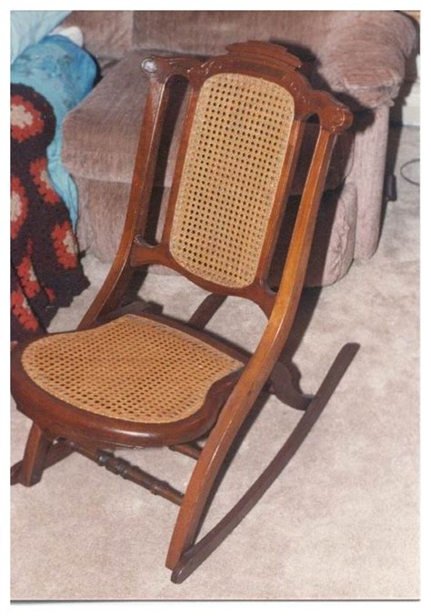 antique collignon folding rocking chair usa made