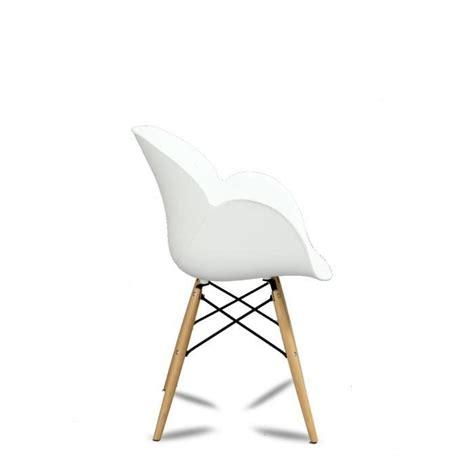 lot de 2 chaises design ki oon couleur blanc achat vente chaise salle a manger pas cher