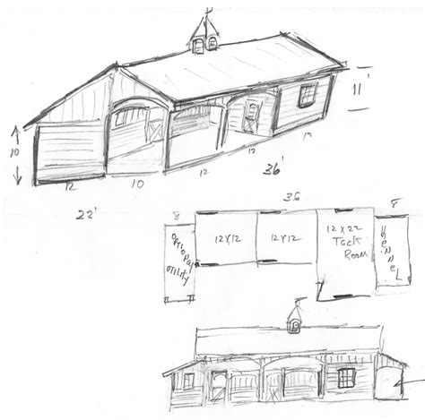 shed row barn building plans