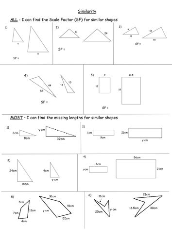 All Worksheets » Scale Factor Worksheets  Printable Worksheets Guide For Children And Parents