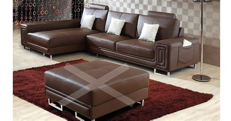 deco in canape cuir d angle marron tetieres relax oxford angle gauche can anglegauche