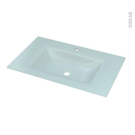 plan vasque egee verre vert d eau pour salle de bains l80 5 x p50 5 cm oskab