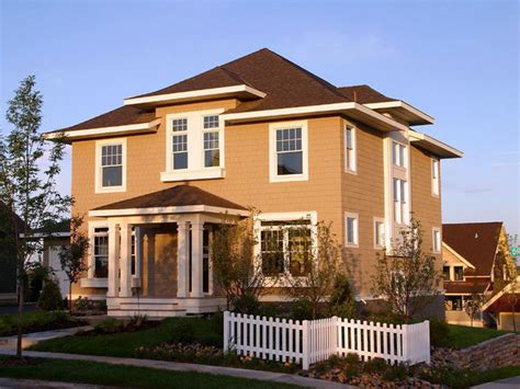 american four square front exterior traditional