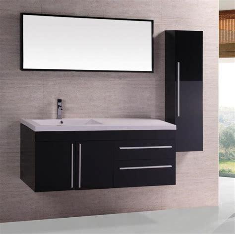 meuble salle de bain noir laque